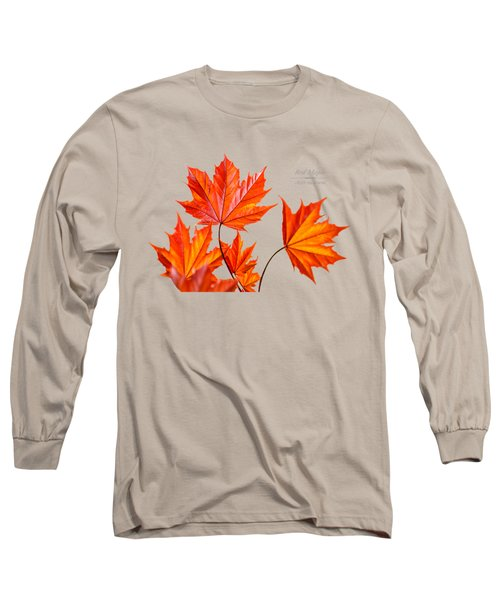 Red Maple Long Sleeve T-Shirt by Christina Rollo
