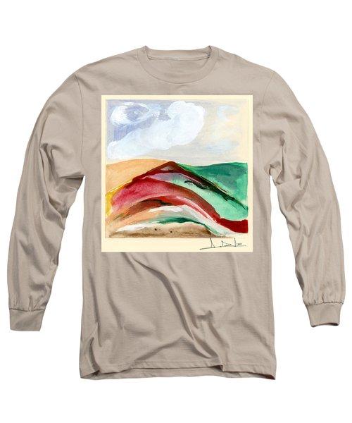 Red Mountain Dawn Long Sleeve T-Shirt