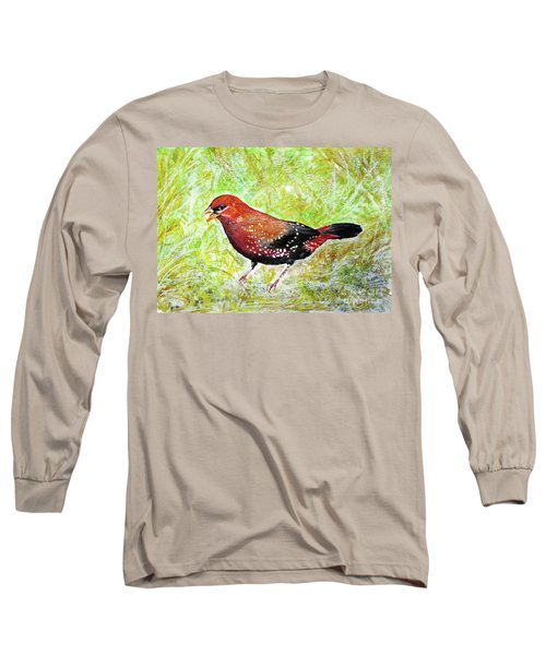 Red Munia Long Sleeve T-Shirt