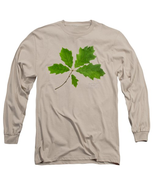 Red Oak Leaves Long Sleeve T-Shirt