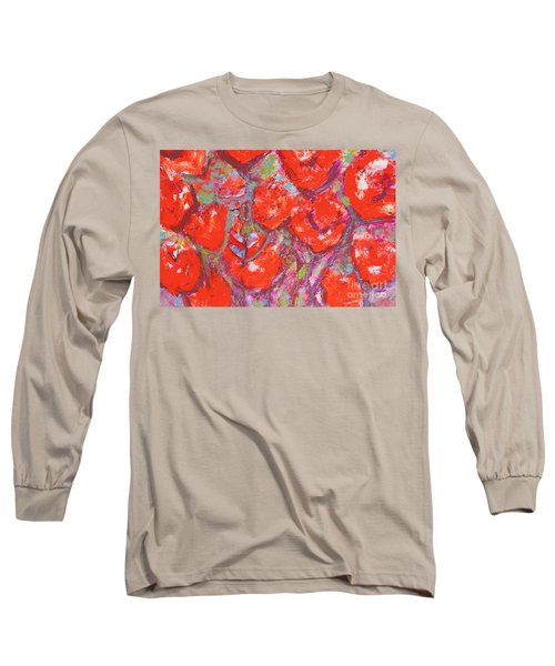 Red Poppies Long Sleeve T-Shirt by Gallery Messina