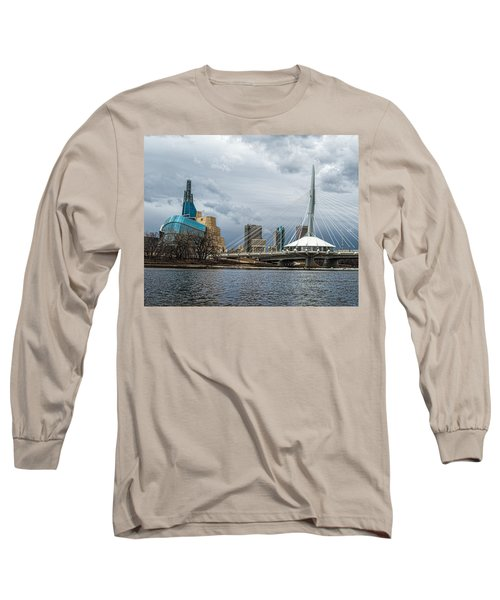 Red River At Winnipeg Long Sleeve T-Shirt