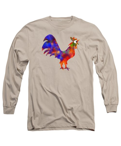 Red Rooster Art Long Sleeve T-Shirt