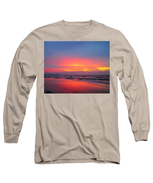 Red Sky At Morning Long Sleeve T-Shirt by Betty Buller Whitehead