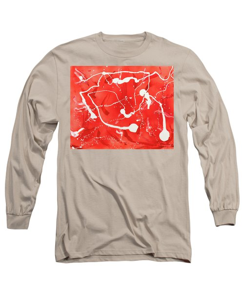Red Spill Long Sleeve T-Shirt by Thomas Blood