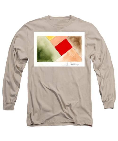 Red Square Tanned Long Sleeve T-Shirt