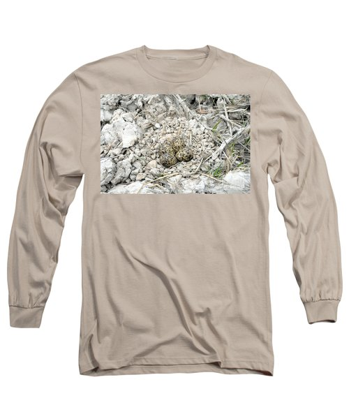 Red-wattled Lapwing Nest Long Sleeve T-Shirt