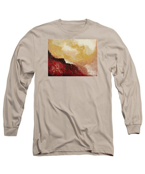 Red Waves Long Sleeve T-Shirt