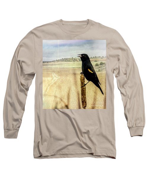Red-winged Blackbird Long Sleeve T-Shirt