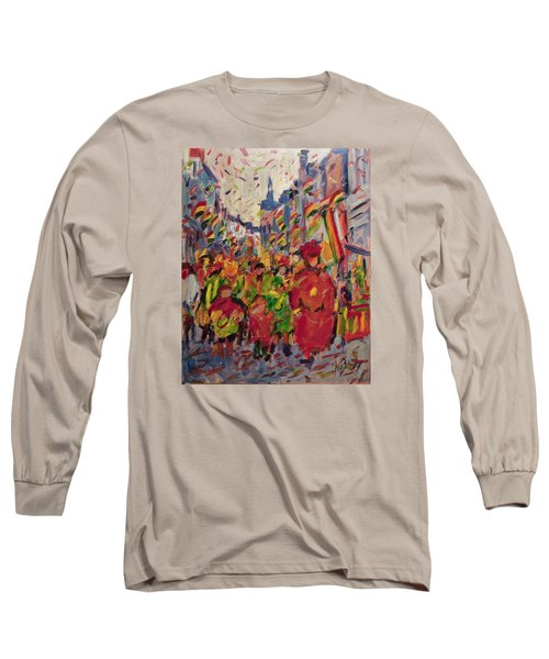 Red Yellow Green There They Come Vreug En Neugter Long Sleeve T-Shirt