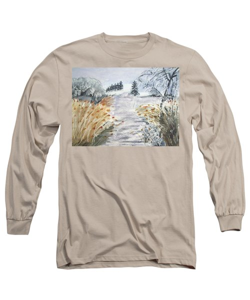 Reeds On The Riverbank No.2 Long Sleeve T-Shirt