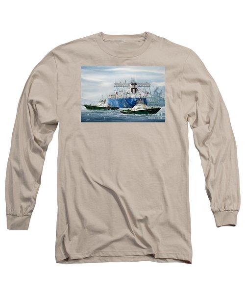 Refinery Tanker Escort Long Sleeve T-Shirt by James Williamson