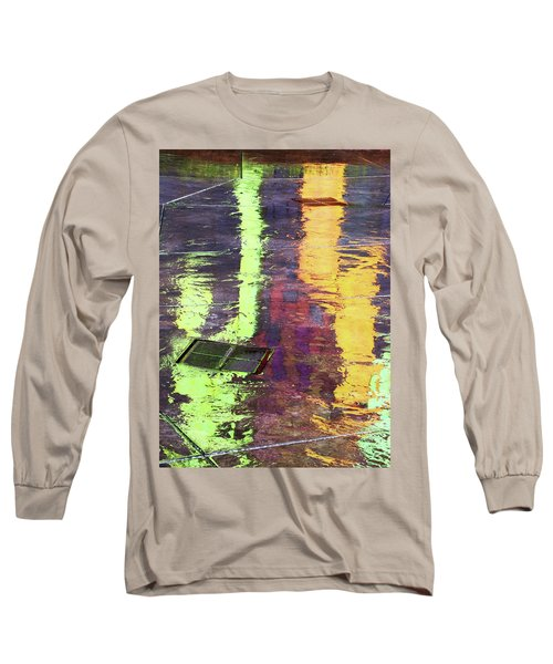 Reflecting Abstract Long Sleeve T-Shirt