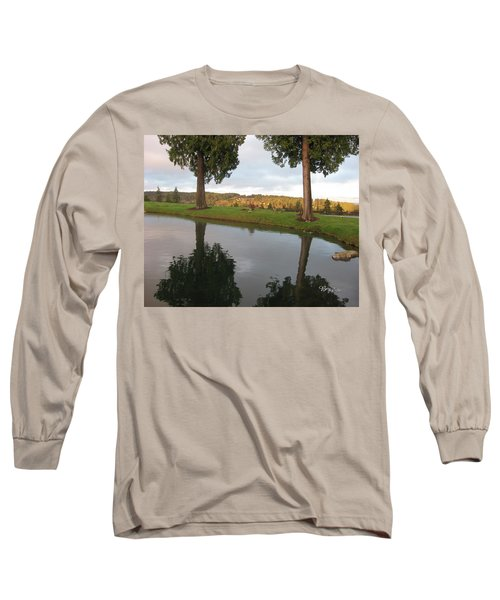 Reflections #183 Long Sleeve T-Shirt by Barbara Tristan