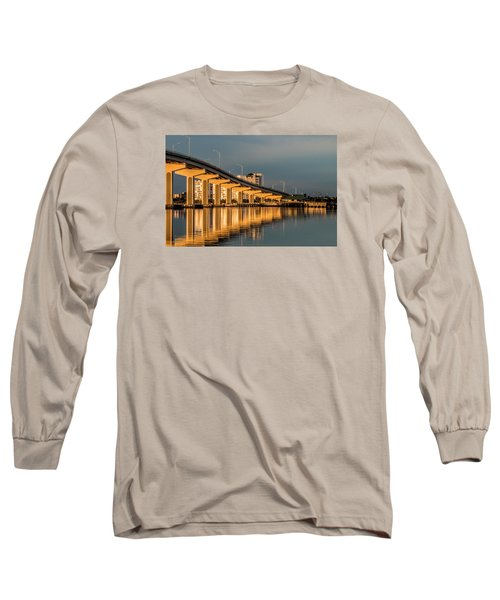 Reflections And Bridge Long Sleeve T-Shirt by Dorothy Cunningham