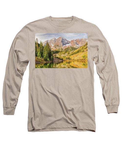 Reflections At Maroon Lake Long Sleeve T-Shirt