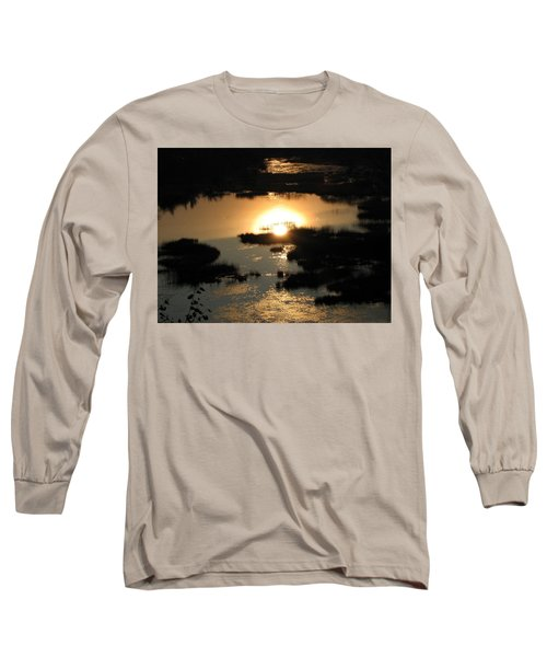 Reflections At Sunset Long Sleeve T-Shirt by Barbara Yearty