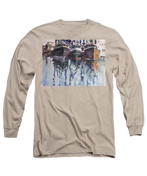 Long Sleeve T-Shirt featuring the painting Reflections II by Robert Joyner