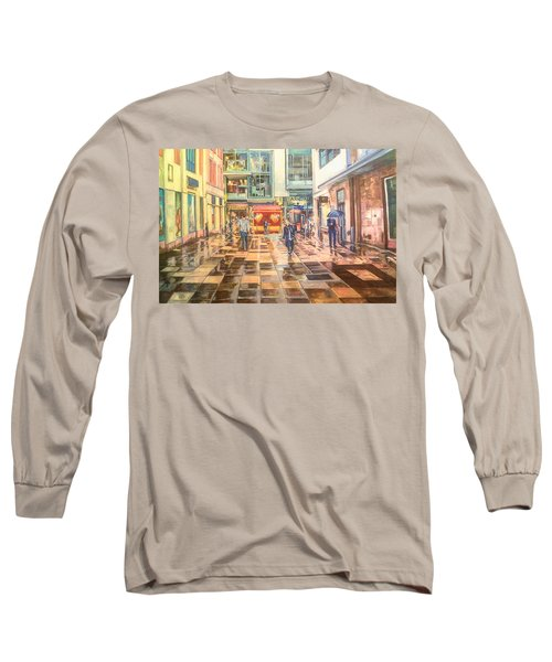 Reflections In The Pavement, Brown Street, Manchester Long Sleeve T-Shirt