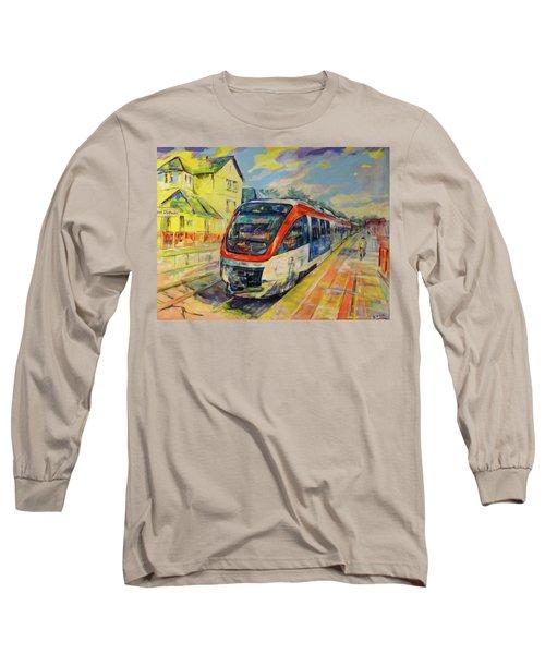 Regiobahn Mettmann Long Sleeve T-Shirt by Koro Arandia