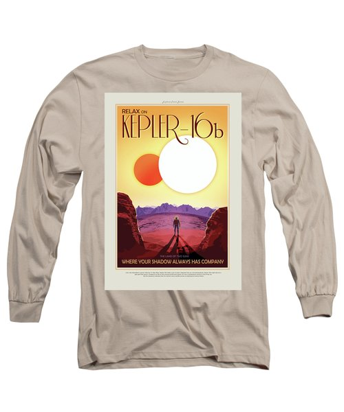 Relax On Kepler - 16b - Vintage Nasa Poster Long Sleeve T-Shirt