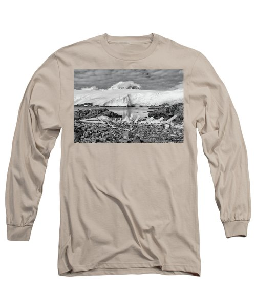 Remains Of A Giant Long Sleeve T-Shirt by Alan Toepfer
