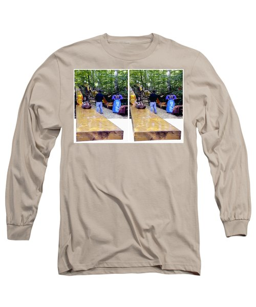 Long Sleeve T-Shirt featuring the photograph Renaissance Slide - Gently Cross Your Eyes And Focus On The Middle Image by Brian Wallace