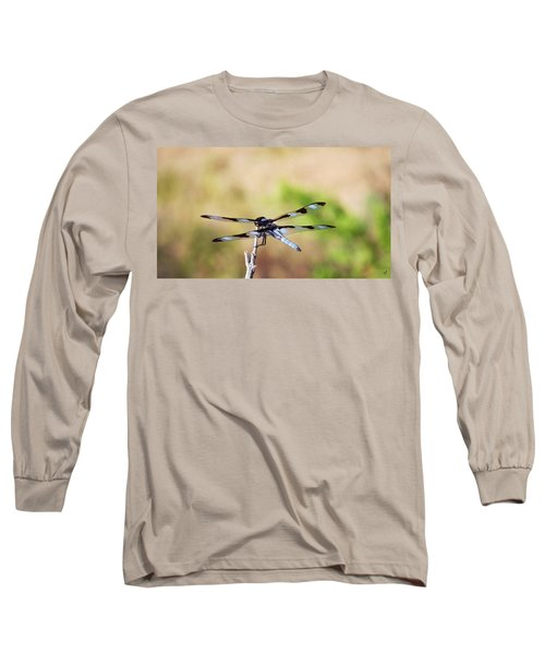 Rest Area, Dragonfly On A Branch Long Sleeve T-Shirt