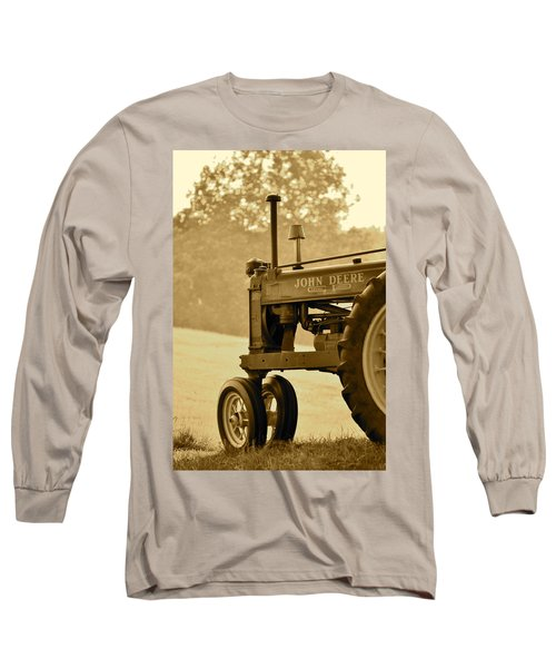 Resting In Sepia Long Sleeve T-Shirt by JD Grimes