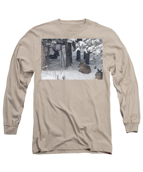 Resting Long Sleeve T-Shirt by Sandra Updyke