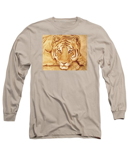 Resting Tiger Long Sleeve T-Shirt by Dale Loos Jr
