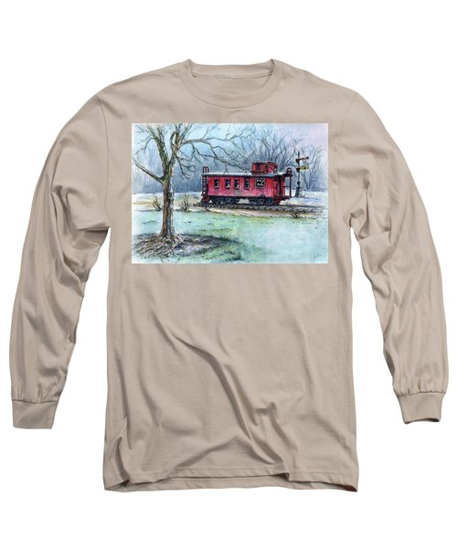 Retired Red Caboose Long Sleeve T-Shirt