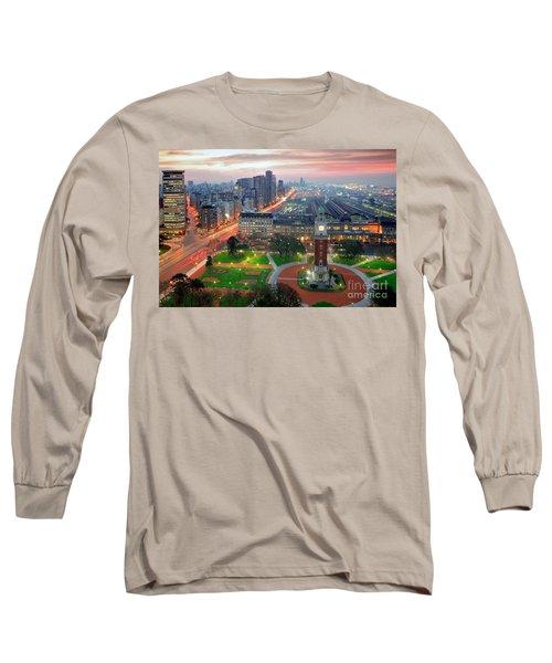 Retiro Buenos Aires Long Sleeve T-Shirt by Bernardo Galmarini