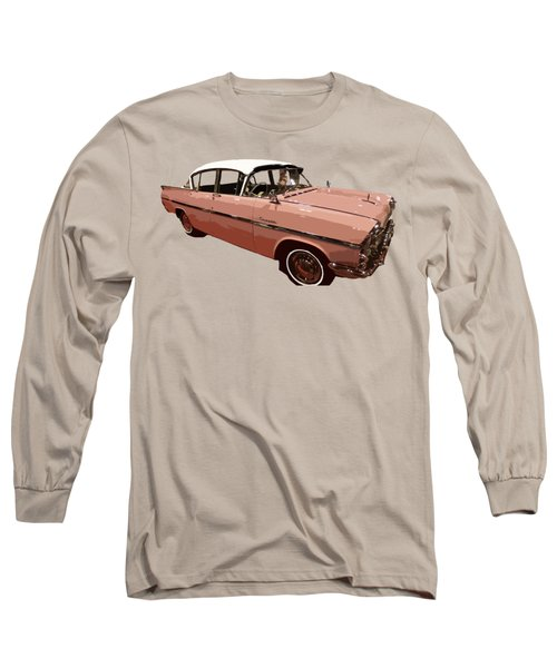 Retro Pink Car Art Long Sleeve T-Shirt
