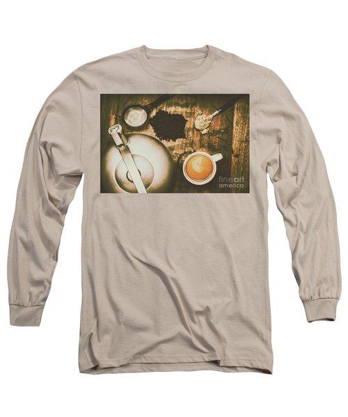 Retro Tea Background Long Sleeve T-Shirt