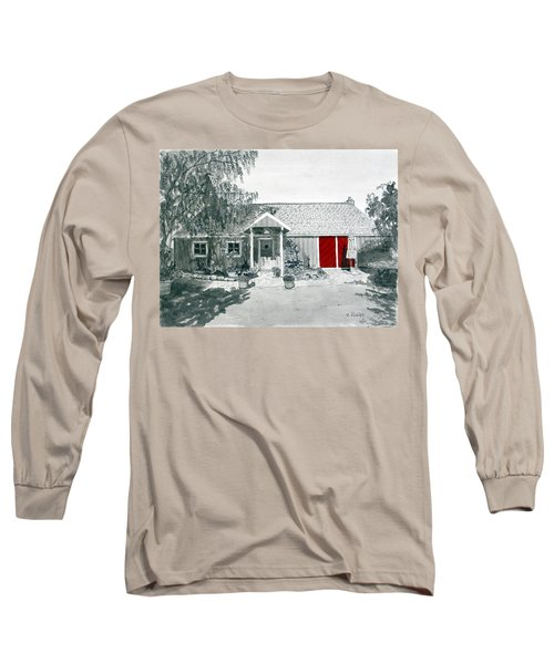 Retzlaff Winery With Red Door No. 2 Long Sleeve T-Shirt by Mike Robles
