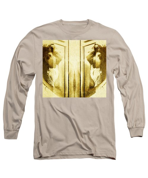 Long Sleeve T-Shirt featuring the digital art Reversed Mirror by Andrea Barbieri