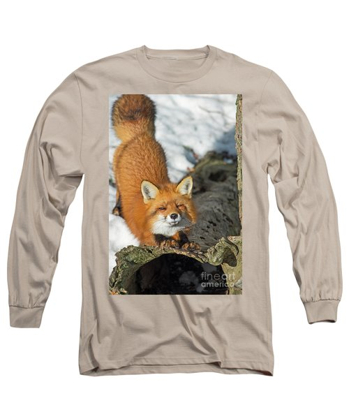Long Sleeve T-Shirt featuring the photograph Reynard The Fox by Nina Stavlund