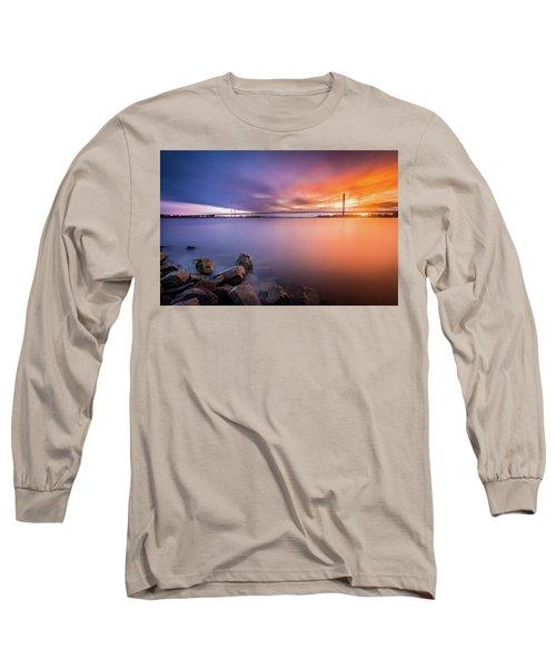 Rhine Bridge Sunset Long Sleeve T-Shirt