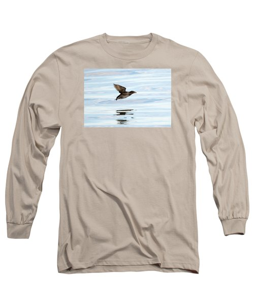 Rhinoceros Auklet Reflection Long Sleeve T-Shirt by Mike Dawson