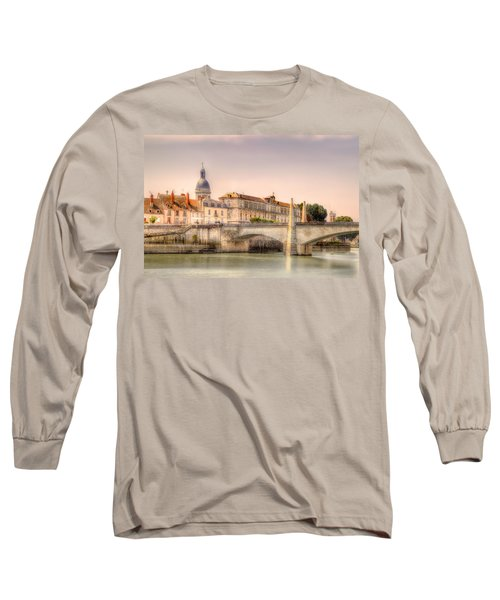 Bridge Over The Rhone River, France Long Sleeve T-Shirt