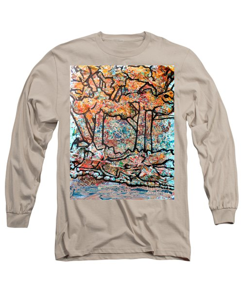 Long Sleeve T-Shirt featuring the mixed media Rhythm Of The Forest by Genevieve Esson