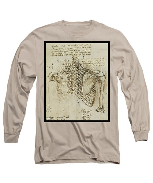 Long Sleeve T-Shirt featuring the painting Ribcage Main by James Christopher Hill