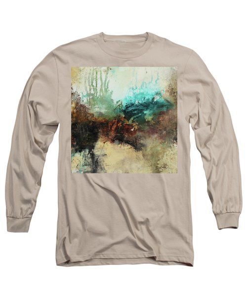 Rich Earth Tones Abstract Not For The Faint Of Heart Long Sleeve T-Shirt by Patricia Lintner