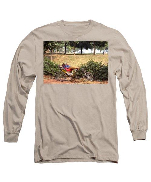 Rickshaw Rider Relaxing Long Sleeve T-Shirt