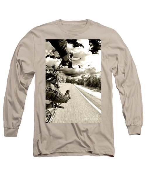 Ride To Live Long Sleeve T-Shirt by Micah May
