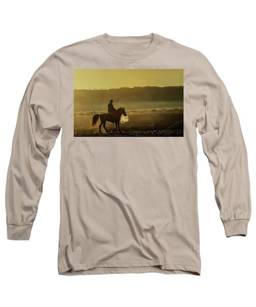 Riding His Horse Long Sleeve T-Shirt