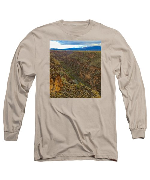 Rio Grande Gorge Just After Dawn Long Sleeve T-Shirt by Brenda Pressnall