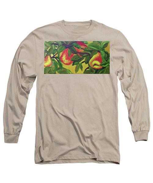 Ripe Pears On The Tree Long Sleeve T-Shirt by Margaret Harmon