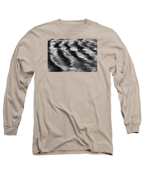 Long Sleeve T-Shirt featuring the photograph Ripples In The Sand by Gary Bridger